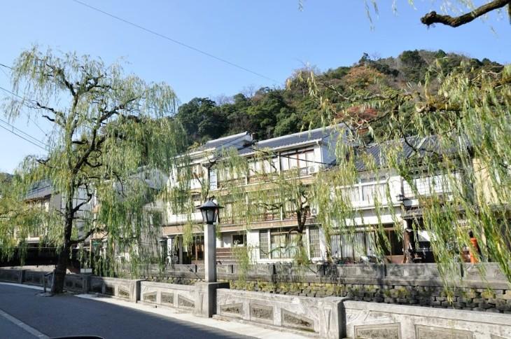 城崎温泉の柳通り
