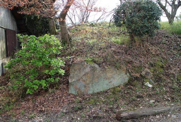 嵯峨七ツ塚古墳群 2号墳の露出した石