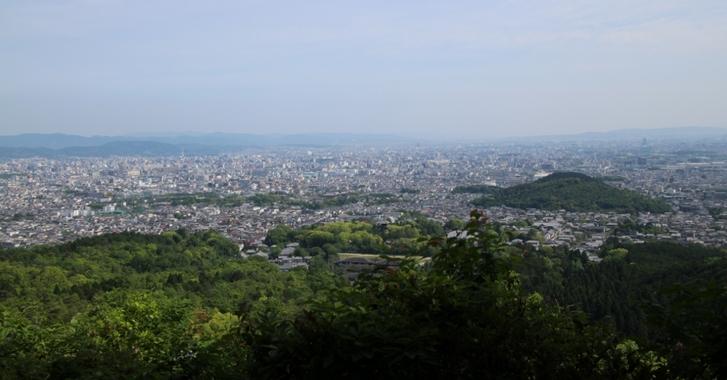 成就山八十八カ所霊場から見る京都市内