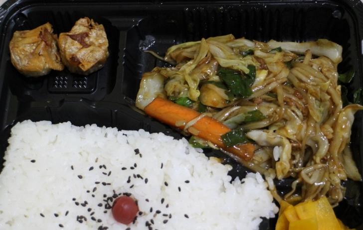 中華野菜炒め弁当 近影