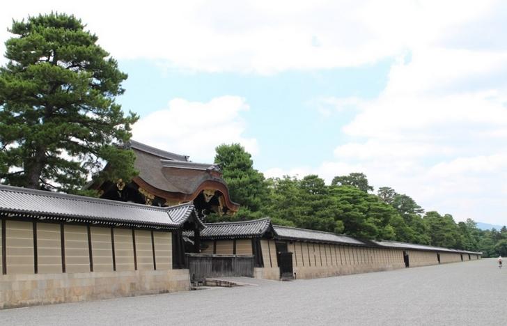 マンションに隣接する京都御所