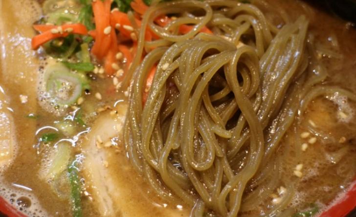 注目の「抹茶麺」