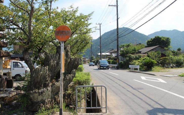 年に1回しか使われないバス停 野村