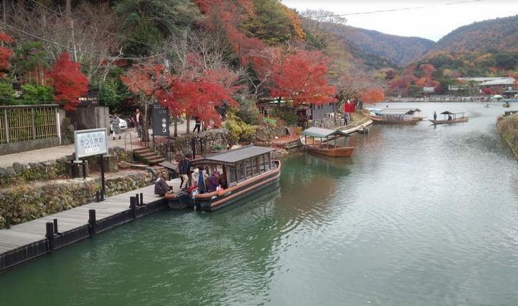 嵐山の風景、観光地はやっぱり京都らしい