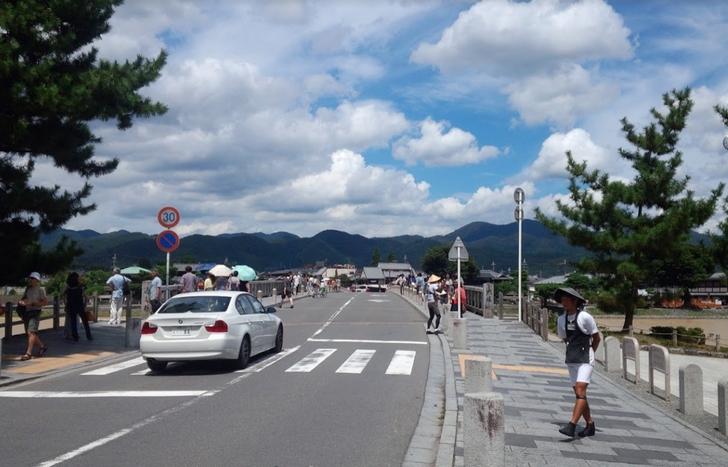 観光地らしいのは、京都・嵐山など