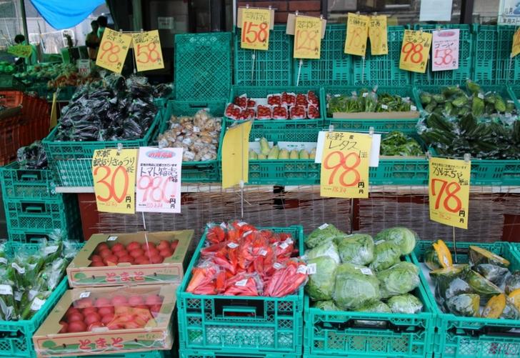 太秦店は野菜類が豊富な店舗で駐車場もあります