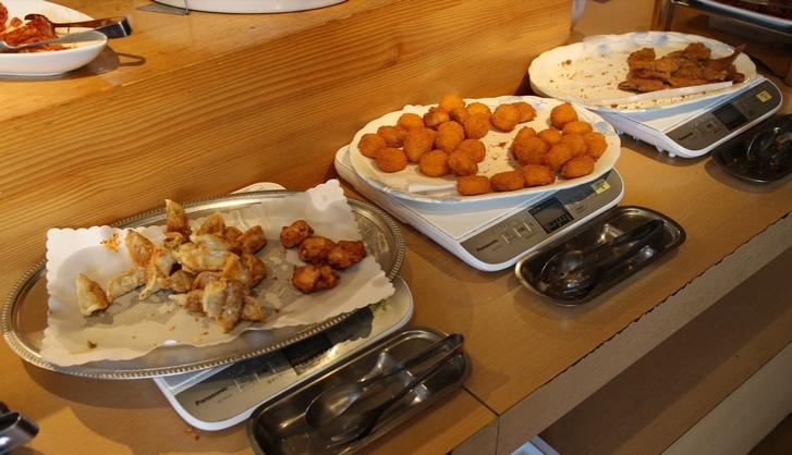 揚げ餃子・貝柱のフライ・魚のフライ