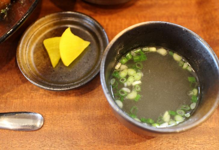 スープもついています