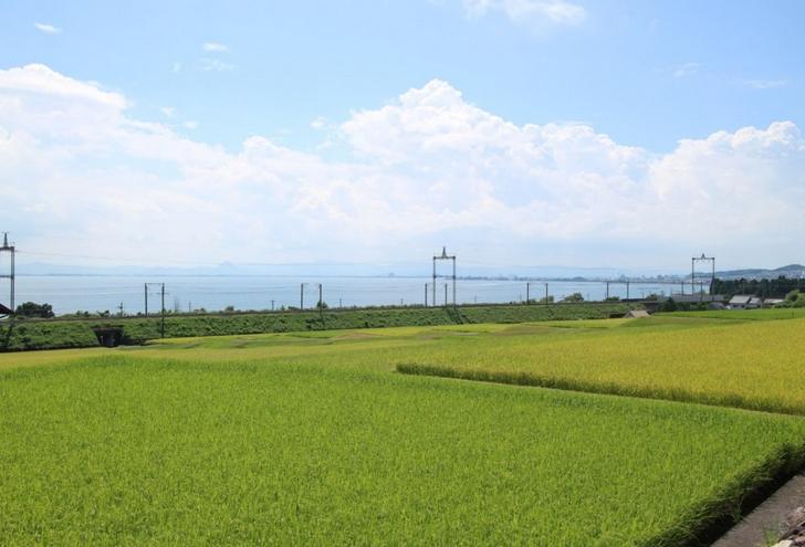 琵琶湖沿いの道を高島に向かって進みます