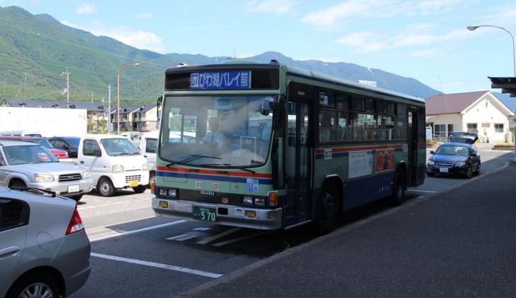 びわ湖バレイ行きの江若バスを利用(330円)
