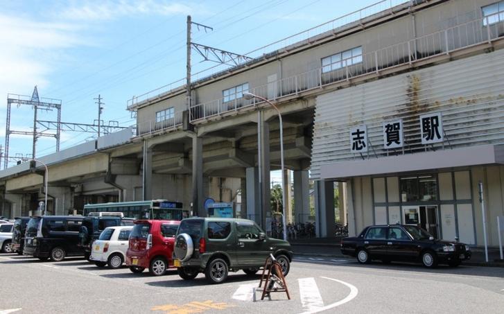 びわ湖テラスにはJR湖西線「志賀駅」を使います。