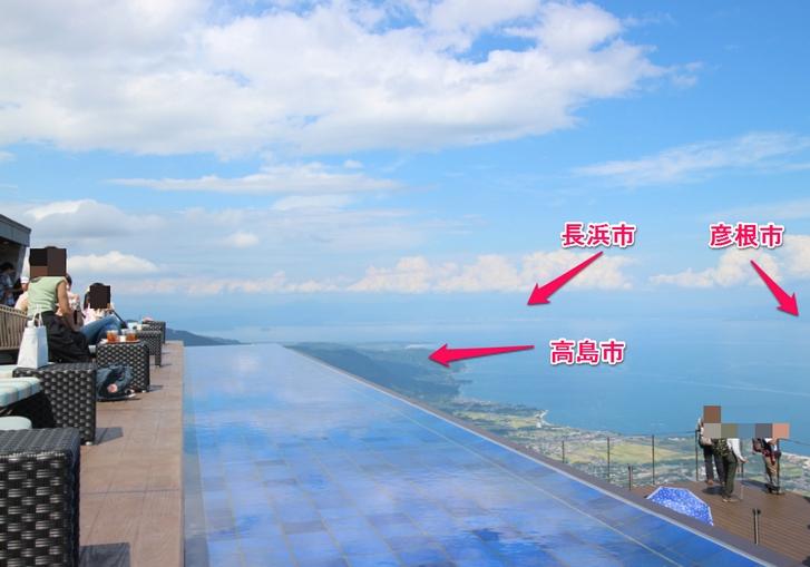 北の方の遠い景色まで見えます