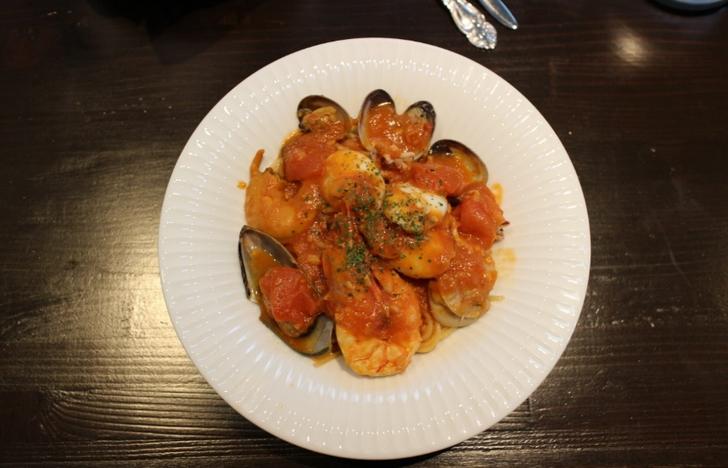 魚介とトマトのスパゲティ 1300円