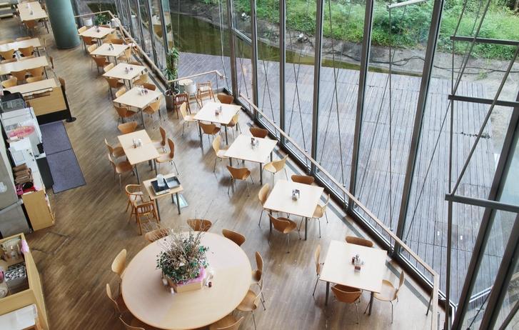 オープンテラスのレストラン