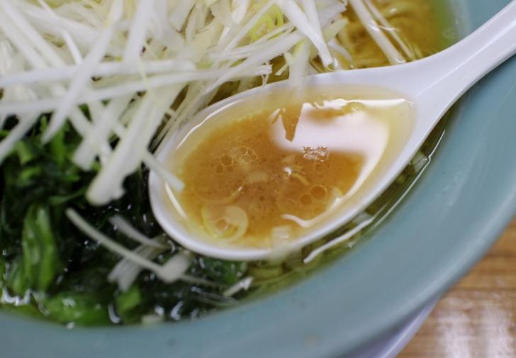味普通、油多め コクが深いスープです