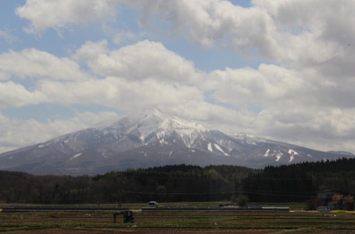 青森県 津軽平野の岩木山