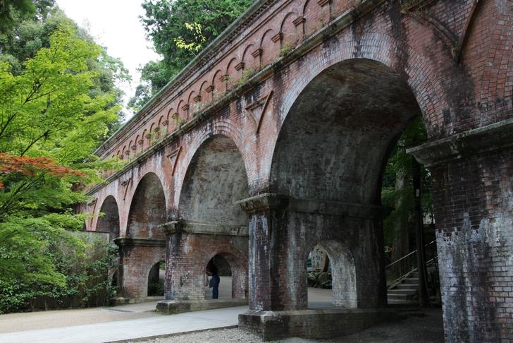 南禅寺の水路閣は京都市内で唯一の北に流れる水だった