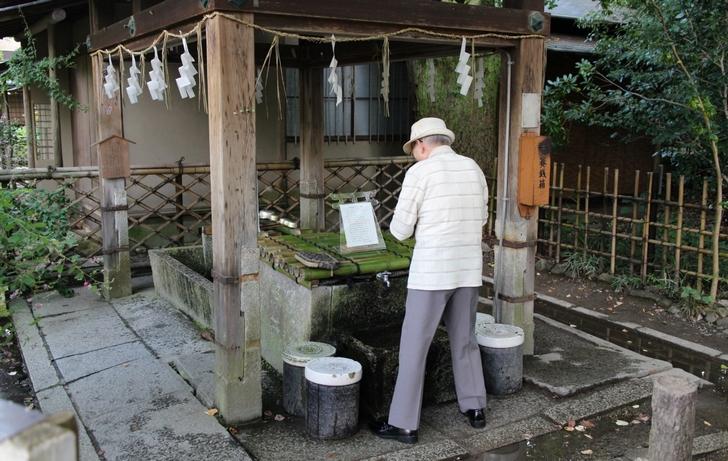京都ではいたるところで飲めるお水が湧いています