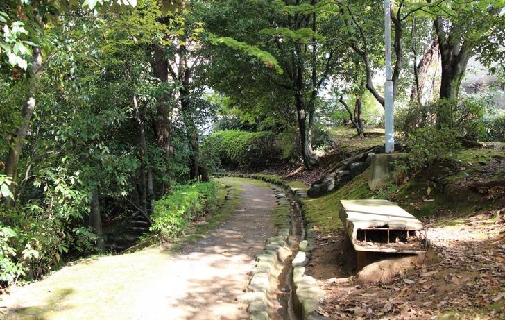御土居公園、千本口(長坂口)の南にある今回の発掘場所の北500メートルの所