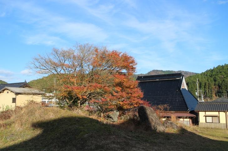 京都・京北 徳平庵の裏手 昔ながらの風景