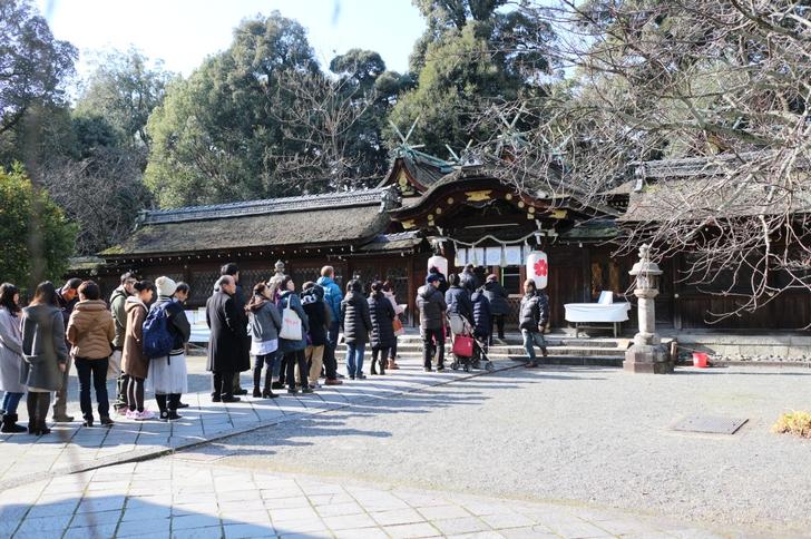 2017年1月1日 11時30分頃の平野神社はだいたいこんな感じです