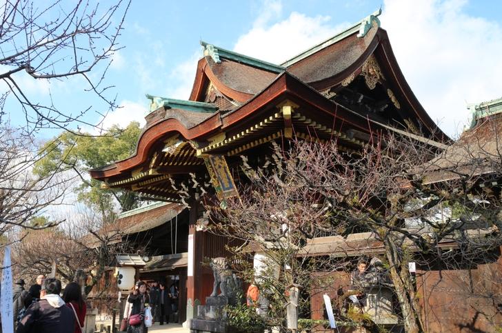 2017年 京都の元旦正月 まとめ(写真は北野天満宮)