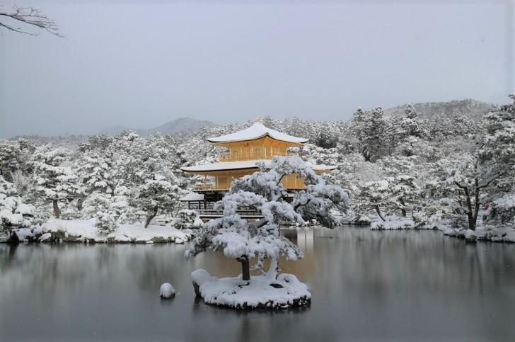 雪の金閣寺 @京都・2017年冬 1月15日 朝9時撮影