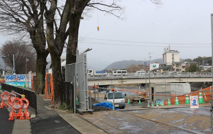 京都・上賀茂前の「御園橋」が拡大工事
