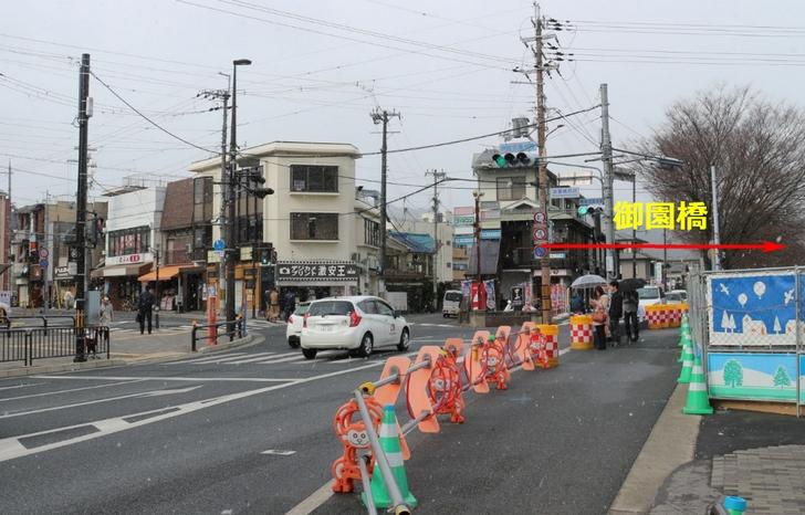 上賀茂神社や静原から市内に行く場合に通るのが「御園橋」です