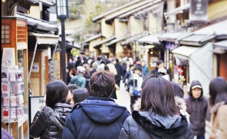 付近は「三年坂」や「八坂神社」もある京都の一大観光地です