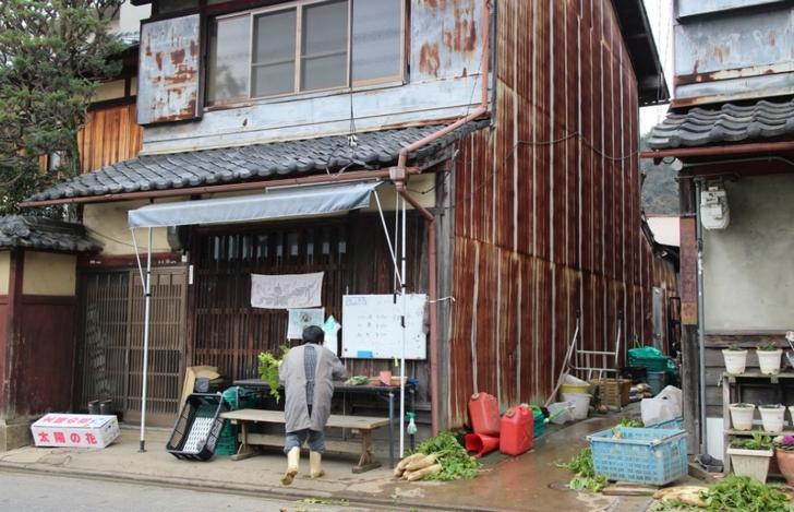 北区鷹峯土天井町の野菜無人販売(樋口農園)