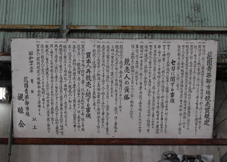 昭和39年6月4日から京都・花園で市場として機能してきました