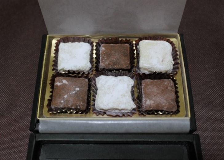 普通のチョコレートでした