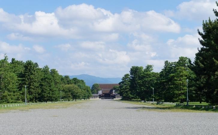 冬には「京都御所」で見ることもあります
