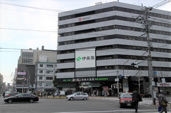 阪急と嵐電が乗り入れる「四条大宮駅」