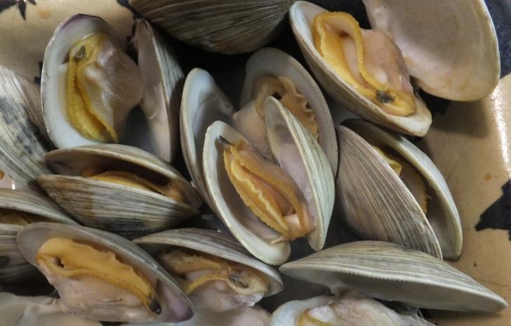ホンビノス貝の酒蒸し