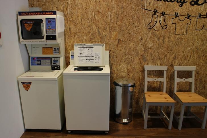 くつ洗濯や普通の洗濯機もありました