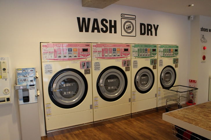 洗濯乾燥機は全部で4台でした