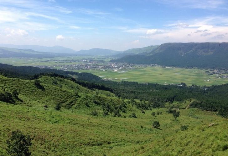 熊本県阿蘇市もカルデラの都市です