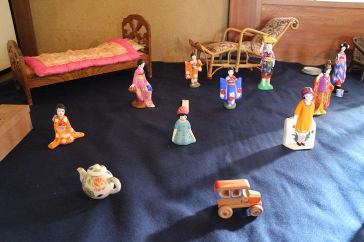夢二人形 ほかにも昭和25年頃の人形がたくさん