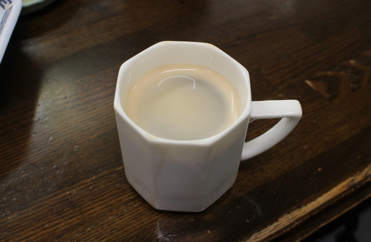 食後のサービスコーヒー