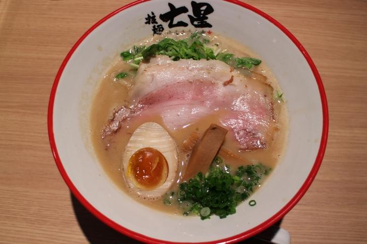 拉麺 七星(ななほし)豚骨醤油ラーメン 750円