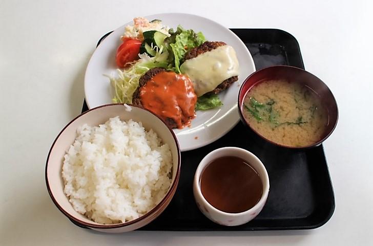 ダブルハンバーグ定食 580円