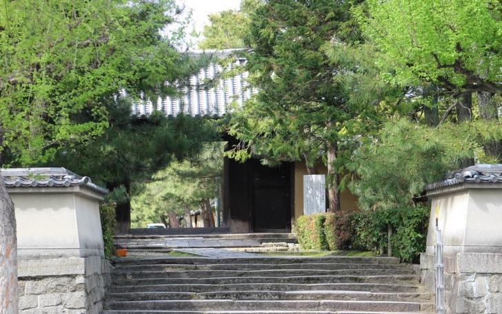 大徳寺の東門前にお店がたくさんあります