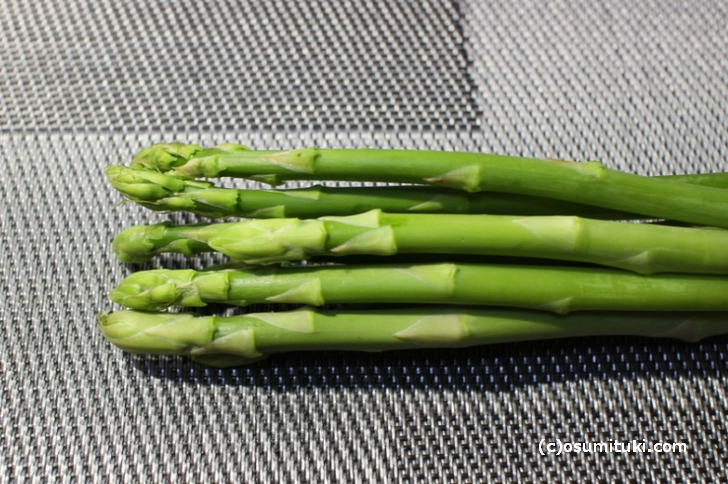 グリーンアスパラガスは京都でも生産しています ※転載不可※