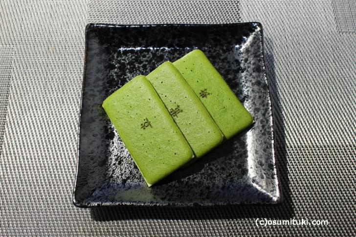 茶の菓(お濃茶ラングドシャ)