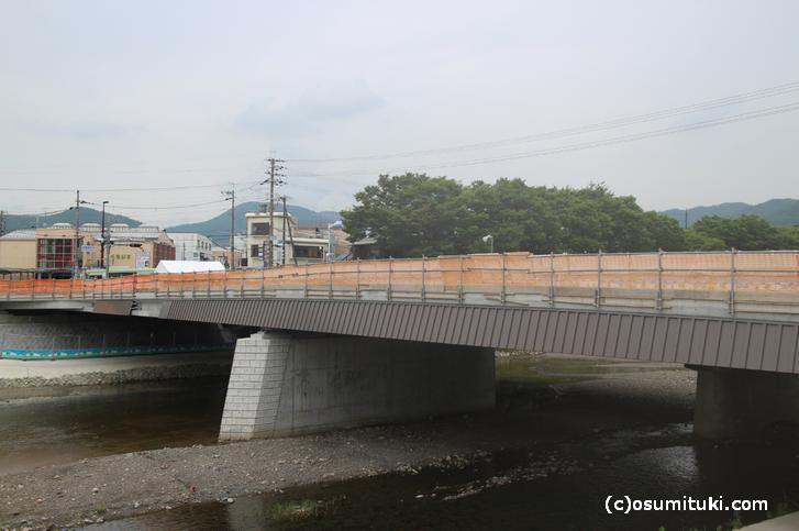 京都市北区にある拡張工事中の「御園橋」