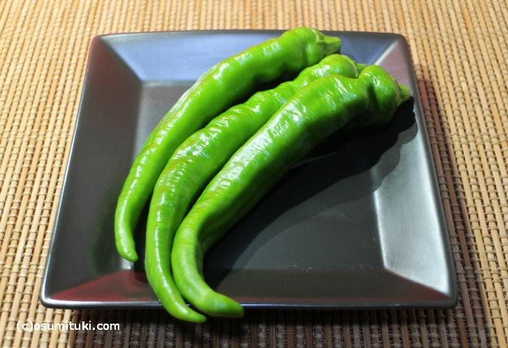 京都のブランド野菜「万願寺とうがらし」