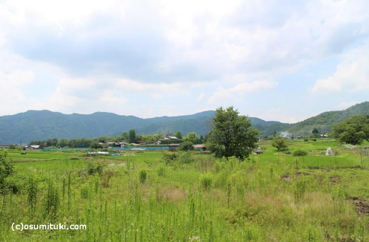 後宇多天皇陵の南は「北嵯峨赤阪町」
