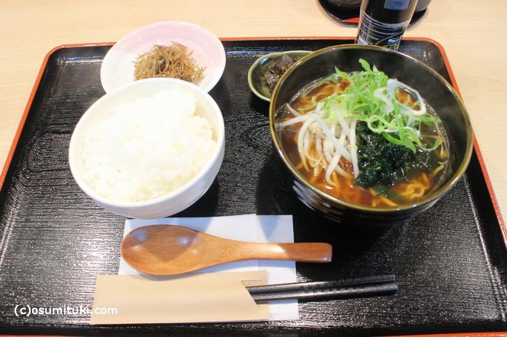 中華そば定食 700円